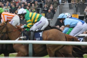 Quantitiveeasing, AP McCoy - JLT Specialty Handicap Steeple Chase