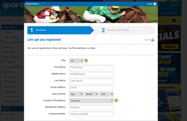 how to make a sportsbet account