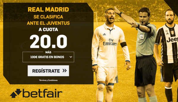 betfair offer madrid juve