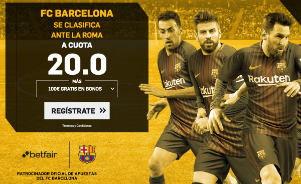 betfair offer barsa roma