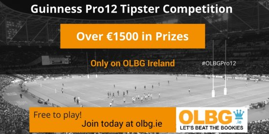 Free to Enter Rugby Union Guinness Pro 12 Tipster Competition