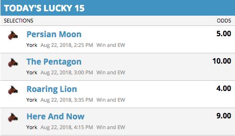 Lucky15 bet Winner