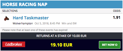 winning nap of the day racing tips